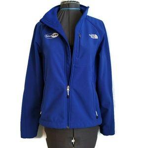 The North Face Soft Shell Jacket S Blue Logo Fall